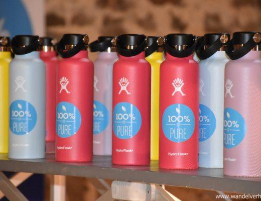 Hydro Flask, een handige herbruikbare fles.